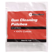 Kleen Bore 100% Cotton Cleaning Patches .28-.35 Caliber 75 Per Package P-202