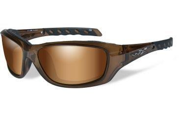 35313180eda Wiley-X WX Gravity Sunglasses - Bronze Flash w  Crimson Brown Tint Lens