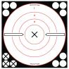 Birchwood Casey Shoot-N-C White/Black 8 Inch Round Bullseye 6 Plus 72 Pasters 34802B