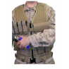 BlackHawk Omega Elite Vest Cross Draw/Pistol Mag - Tan, Left