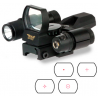 BSA Optics Panoramic Green & Red Dot Sight with Laser and Light Combo