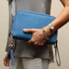 Concealed Carrie Compact Cool Blue Leather