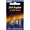 Dorcy 2AA Krypton Bulb ( KPR222 Screw Base) - 2 Per Card 41-1664