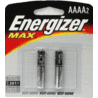 Energizer Max Alkaline AAAA Batteries for Pen Lights E96BP-2