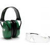 Howard Leight Adult Shooting Combo Kit Green Muff, Clear Anti-Fog Eyewear, R-01761