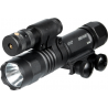 Leapers UTG LED Weapon Flashlight and W/E Adjustable Red Laser Combo w/ 16 Positions LT-ELP38