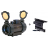Leatherwood / Hi-Lux Optics 1x30mm Red Dot Tactical Sight w/ Integral Mount & Rubber Edge Guards & Flip-up Lens Covers ES1X30TP
