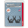 MagLite ASXCAT6 Universal Mounting Brackets for MagLite C-Cell Flashlight, 2/Pkg