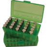 MTM P50 Fliptop Box Handgun .380-9mm Clear Green P50-9M-16