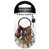 Nite Ize S-Biner Key Ring Holder in Black, Silver and Stainless Steel