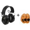 3M Peltor Tactical Sport Electronic Ambient Listening Headset, Folding Headband, Black
