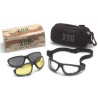 Pyramex XSG Ballistic Shooting Glasses w/ Clear, Gray and Amber Ballistic Lens Kit