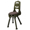 Quake The Stag Swivel Hunting Stool With Back Rest 90000-9