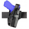 Safariland 070 Duty Holster, SSIII Mid-Ride, Level III Retention - Hi Gloss Black, Left Hand 070-74-92