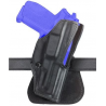 Safariland 5181 Open-Top Paddle Holster - Plain Black, Right Hand 5181-79-61