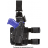 Safariland ALS Tactical Holster w/ Quick Release Leg Harness - STX Tactical Black, Right 6305-8310-131