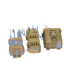 Tactical Assault Gear Pouches - MOLLE MBITR Amp and Battery Pouch Kit