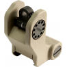 Troy Rear Tritium Fixed Battle Sights-Black and Flat Dark Earth