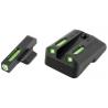 Truglo TG13NV4A TFX Novak 270/500 3 Dot Green Tritium / Fiber Optic Sight