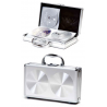 TZ Case CD240 Large Aluminum CD/DVD Case - Smooth Silver Circle