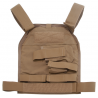 US Palm Handgun Defender Soft Armor Plate Carrier With One Level IIIA Soft Armor Panel X-Large 11x13.5 Inch Panel Right Hand Coyote Tan USP00400350