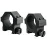 Yankee Hill Machine 4-Screw Low Profile Scope Ring Set Short 30mm Picatinny Matte Black YHM-304A